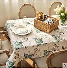 JY$ZB Amerikanische Gartentischdecke aus Baumwolle / Tischdecke / Mehrzwecktischdecke für zu Hause Restaurant Hotel Party , 60*60cm
