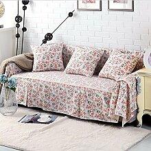 JY$ZB Baumwolle Leinen Sofabezüge Baumwolle Rutschhemmende Sofa Schonbezug für Schlaf Handtuch Home Decor , 215*260Lovesea