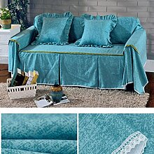 JY$ZB Baumwolle Leinwand dick rutschfest Volldeckung Sofa Möbel Protector Sofa Handtuch , 1 , 210*200single sea
