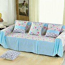 JY$ZB Blaue Sofa-Schutz-volle Abdeckung Sofa-Abdeckungen Sofa-Schutzbezug für Wohnzimmer-Sofa-Tuch-Hauptdekor , 200*260Lovesea