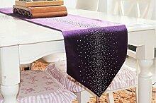 JY$ZB Drill Tischfahne Läufer Tabelle Tabelle Läufer Mode die Tisch-Tischläufer , purple , 32*200cm