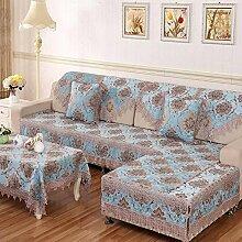 JY$ZB Einfache Kombination von modernen Wohnzimmer Sofa Slip Sofa Abdeckung Rückenlehne Handtuch Sofa Möbel Beschützer , 90*160cm