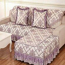 JY$ZB Einfache und moderne pastorale Stoffkombination Sofa Möbelschutz Sofaabdeckung Rückenlehne Handtuch , 1 , 90*180cm