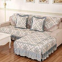 JY$ZB Einfache und moderne pastorale Stoffkombination Sofa Möbelschutz Sofaabdeckung Rückenlehne Handtuch , 2 , 90*210cm