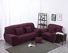 JY$ZB Einfarbige Möbel-Beschützer Sofa Protector Sofa dichte Verpackung all-inclusive rutschfeste Sofaabdeckung elastische Sofa Handtuch , lila , 145*185