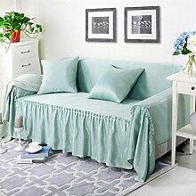 JY$ZB Haustextilien modernen Stil mehrfarbigen festen reinen 100% Baumwolle Sofa Abdeckung slipcovers Sofa Handtuch , 3 , 170*260