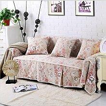 JY$ZB Heimtextilien Baumwolle Leinen Sofa Covers Baumwolle rutschfeste Sofa Slipcover für Zimmer Sofa Handtuch Home Decor , 215*200single sea