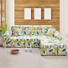 JY$ZB Heimtextilien moderne Art mehrfarbige feste reine 100% Baumwolle Sofaabdeckung slipcovers Sofa-Handtuch , 200*350Sofa Cover