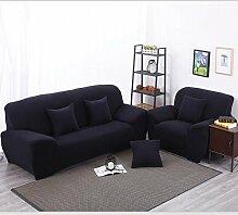 JY$ZB Heimtextilien Solid Color Enge All-inclusive-Sofa Handtuch Slipcover Stretchstof Elastic-Sofa-Abdeckung Single / zwei / drei / Viersitzer Home Decor , 145*185Lovesea