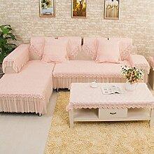 JY$ZB Heimtextilien Stoff Spitze Sofa-Möbel-Schutz Anti-Rutsch-Sofa-Abdeckung Armlehne Rückenlehne Handtuch , 90*240