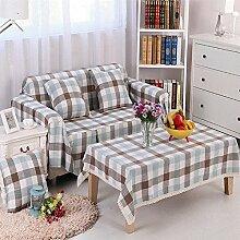 JY$ZB Heimtextilien Tuch Antirutsch - Leinen Kombination von vier - Saison bedeckt Sofa Handtuch , 2 , 210*350