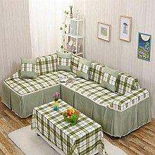 JY$ZB Heimtextilien Volldeckung All-in-One-Paket Stoff Staub Sofa Möbel Beschützer Anti-Rutsch-Sofa Abdeckung , 1 , 215*260Lovesea