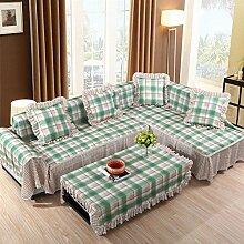 JY$ZB Heimtextilien Volle Deckung Vier Jahreszeiten rutschfest einfache Sofa-Möbel-Schutz-Sofa-Abdeckung , 215*260Lovesea