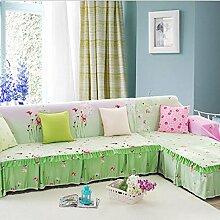 JY$ZB Home Textiles grün Sofa Möbel Protector Sofa Abdeckung Anti-Rutsch-Hause Stoff Sofa Slipcover Handtuch , 200*260Lovesea