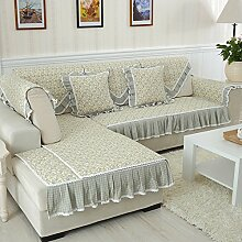 JY$ZB Home Textiles Volle Abdeckung Hirtenart gesteppter rutschfester Stoff Sofa-Möbel-Schutz-rutschfeste Sofaabdeckung , 3 , armres