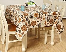 JY$ZB Japanische Fantasiewald Baumwoll-Leinen-Tischdecke Dekoration Restaurant Stoff Wohnzimmer Tisch Tuch abdecken Tuch für Party nach Hause Bankett Picknick , 140x140cm