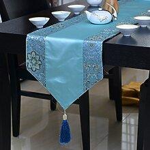 JY$ZB Klassische chinesische Tischfahne Teetisch TV-Schrank weiches angepasstes Zubehör Tischdecke für zu Hause sammeln Restaurant Hotel , c , runner 2 meters