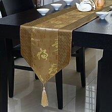 JY$ZB Klassische chinesische Tischfahne Teetisch TV-Schrank weiches angepasstes Zubehör Tischdecke für zu Hause sammeln Restaurant Hotel , e , runner 1.8 meters