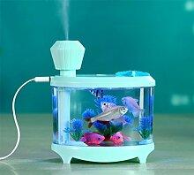 JY$ZB Kreative USB Ultraschall-Luftbefeuchter Mini-Aquarium Beleuchtung Luftbefeuchter 14.5cm Nachtlicht * 12,5 cm * 8,5 cm zu beobachten Hause die bunte , light pink