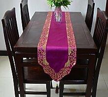 JY$ZB Küche Tisch Läufer Tischfahne Mode Tischläufer , purple