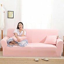 JY$ZB Pink Thicken Elastizität gestrickte Sofa-Abdeckung Tight Wrap All-Inklusive Full Coverage1 / 2/3/4 Sitzer Sofa Cover , 145*185Lovesea