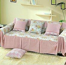 JY$ZB Rosa Sofa-Schutz Vollständige Abdeckung Sofabezüge Sofa Schonbezug für Wohnzimmer-Sofa Handtuch Home Decor , 200*200single sea