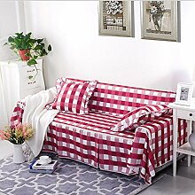 JY$ZB Sofa Protector Volldeckung Rutschfeste Sofaabdeckung Sofa-Kombination Handtuch Single / Two / Three / Vier-Sitz-Ebene Couch Cover , 2 , 215*350Sofa Cover