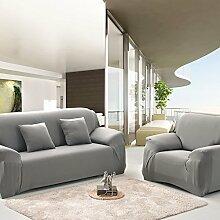 JY$ZB Vier Jahreszeiten feste Anti-Rutsch-Sofa-Sets all-inclusive einfache moderne Sofaabdeckung , grey , 145*185Lovesea