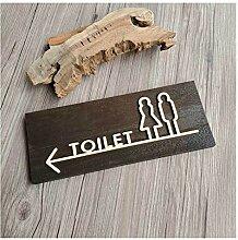JYBHSH Holztür Aufkleber Toiletten-Zeichen Nummer