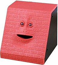 JYCRA Bank, kreatives Design mit Medaille, Essen, sparen Geld Bank Batterie poweredmini Spardose Geschenkidee für Kinder Spielzeug für Kinder, Red Brick Face, 9.7x10x10.6cm