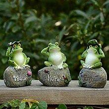 JYCRA Frosch-Garten-Statuen, 3 Stück, kreativer