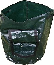 JYCRA Pflanzen Grow Taschen, umweltfreundlich Garten Gemüse Crop Sack Wasserdicht Kartoffel Tomate Badewanne Tasche mit Griffen für Home Gardening, grün, 1pack,36 x 46cm