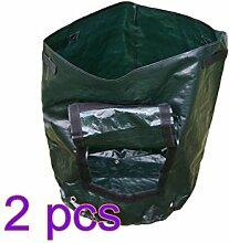 JYCRA Pflanzen Grow Taschen, umweltfreundlich Garten Gemüse Crop Sack Wasserdicht Kartoffel Tomate Badewanne Tasche mit Griffen für Home Gardening, grün, 2pack,36 x 46cm