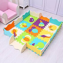 JYCRA Schaumstoff-Puzzle-Spielmatte, 9 Stück,