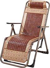 JYHQ Stühle, Balkon-Liege, Bambus-Matte,