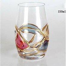 JYJQZ Rotweinglas Kreativer Luxus Bleifreier