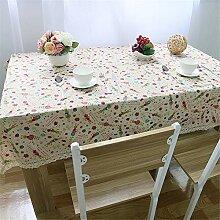 JYJSYMMG Tischdecke Baumwolle und Leinen Hase