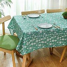 JYJSYMMG Tischdecke grünes Tischgeschirr frische