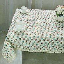 JYJSYMMG Tischdecke hochwertige Baumwolle und
