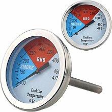 JYNBF 0-475 F Edelstahl-Thermometer BBQ Smoker
