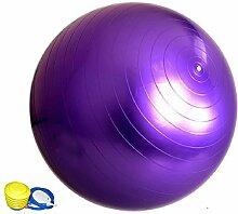 JYSPORT Gymnastik-Ball Yoga ball / Robuster Sitzball und Fitnessball von verschiedene Farben berstsicher Redondo Ball (purple)