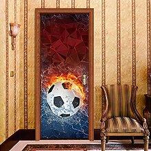 JYXJJKK 3D Türaufkleber Fußball 3D Aufkleber