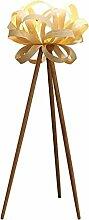 JYXJJKK Stehlampe Japanischer Stil Massivholz