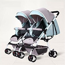 JYY Doppel-Kinderwagen-Buggy, Abnehmbare Leichte