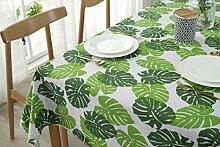 JYYA Nordische grüne Pflanze Baumwolle Leinen