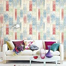 JZ·HOME 3703 Holz-Tapete im marokkanischen Stil,