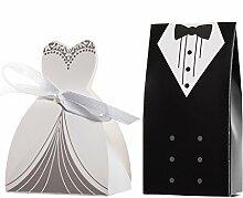 JZK 100 Stück = 50 Paare, Braut und Bräutigam