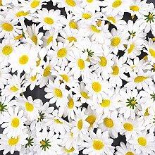 JZK® 100 x künstliche blau Handwerk Gerbera Daisy Gänseblümchen Stoff Blumen Köpfe, Hochzeit Party Tisch Scatters Konfetti, DIY Scrapbook Zubehör, Einladung Karte Dekoration (weiß)