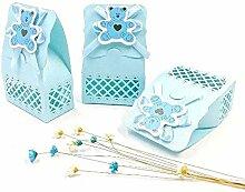 JZK 24 Blau Gastgeschenk Süßigkeiten Schachtel