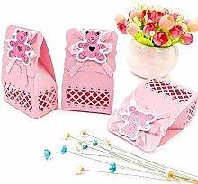 JZK 24 Rosa Gastgeschenk Süßigkeiten Schachtel